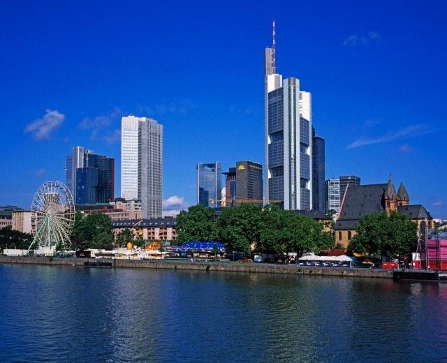 Frankfurt. View on financial district.